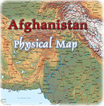 Physical Map Afghanistan