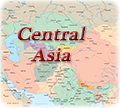 Central Asia political map